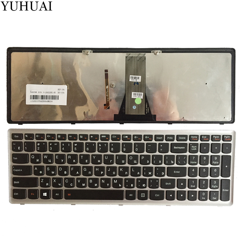 New Russian/RU laptop keyboard for Lenovo IdeaPad Flex 15 Flex15 G500S G505S S500 S510 S510P Z510 Silver-Grey frame with backlit все цены