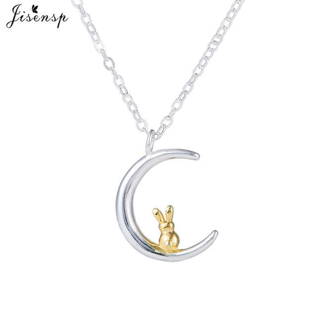 Jisensp animal moon rabbit necklace vivid pet bunny pendant charm jisensp animal moon rabbit necklace vivid pet bunny pendant charm fashion jewelry for women party gifts aloadofball Images