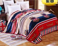 Luxyry Soft Warm Plaid Thick Winter Throw Blanket Top Quality Flannel Fleece Blankets For Beds Bedspread