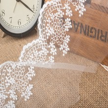Quality 12cm hollow flower net yarn embroidery lace