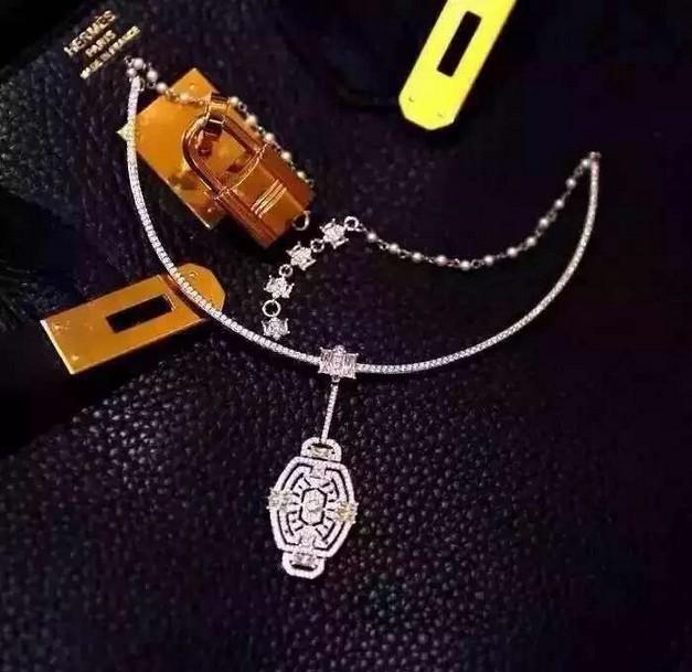 15 novo designer de moda marca colar de jóias colar de cristal pingente de colar para mulheres acessórios