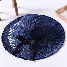 Tejido hecho a mano carta sombreros de Sol para las mujeres negro cinta de  encaje de grandes ala del sombrero de paja playa al a. b8ce5e308a9