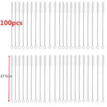 100pcs 175mm/200mm Drinking Straws Brushes Pipes Brush Cleaning for Glass Cleaner Bar Tool