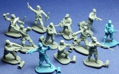 Супер мини ПВХ Рисунок 1: 72-роспись Второй мировой войны солдаты восьмой маршрут армии Модель 12 шт./компл.