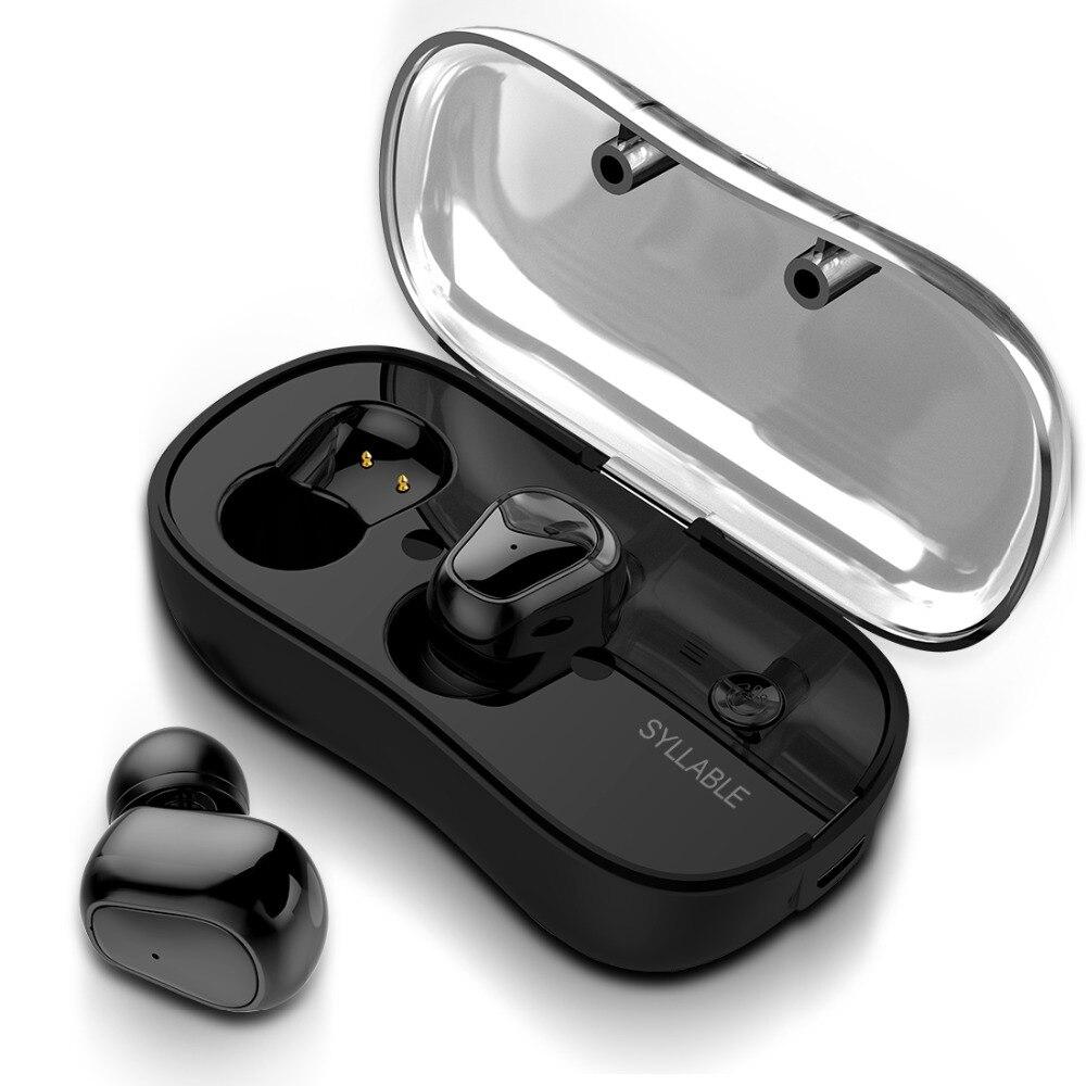 2018 nuevo sílaba D900P Bluetooth V5.0 TWS auricular inalámbrica estéreo auricular impermeable sílaba auriculares Bluetooth para teléfono