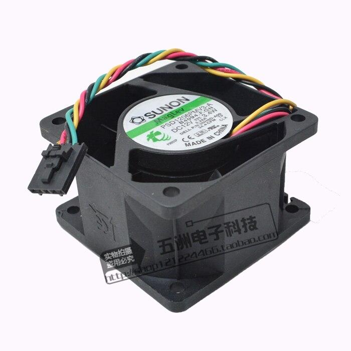 Original Taiwan T /& T 6038M12B-PF1 12V 0.50A 6038 6CM 60 60 38MM Cooling Fan