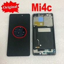100% Оригинальный Новый ЖК-дисплей, сенсорная панель, дигитайзер экрана в сборе с рамкой для Xiao mi 4C M4C mi 4C, запчасти для сенсора телефона