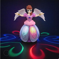 360 Degree Rotary Electric Universal Dancing Princess Light Music Angel Children S Toys Give Children