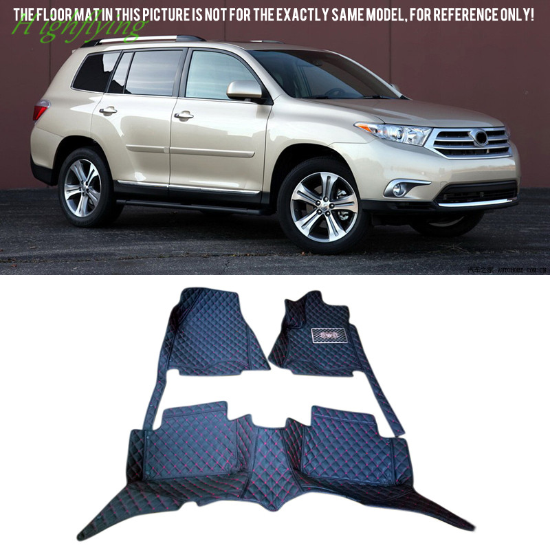 Inner Floor Mats & Carpets Foot Pad Covers Kit For Toyota Highlander 2008-2017