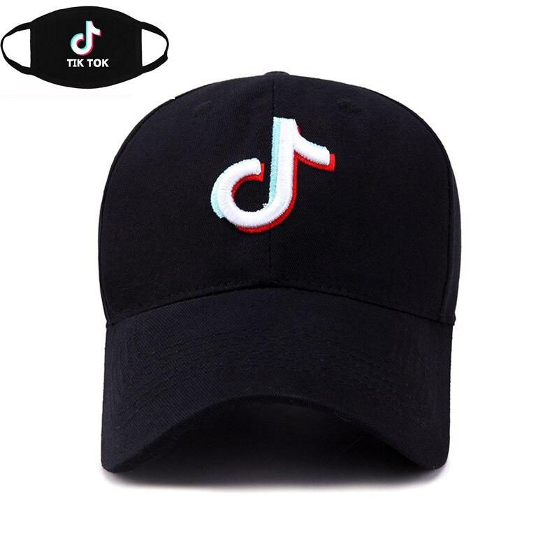 Mask as Gift Tik Tok   baseball     cap   men women hip hop Rapper Bboy dancer DJ embroidered dad sun   cap