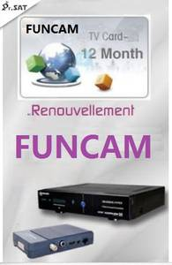 Receivers Tiger Starsat Pinacle 125 Funcam for Geant 126 127 12-Months Renewal Recharge