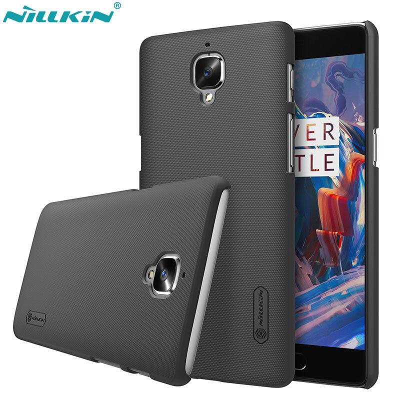 Case para Oneplus 3 t Original Nillkin Super Escudo Fosco capa dura para OnePlus 3 3 t a3000