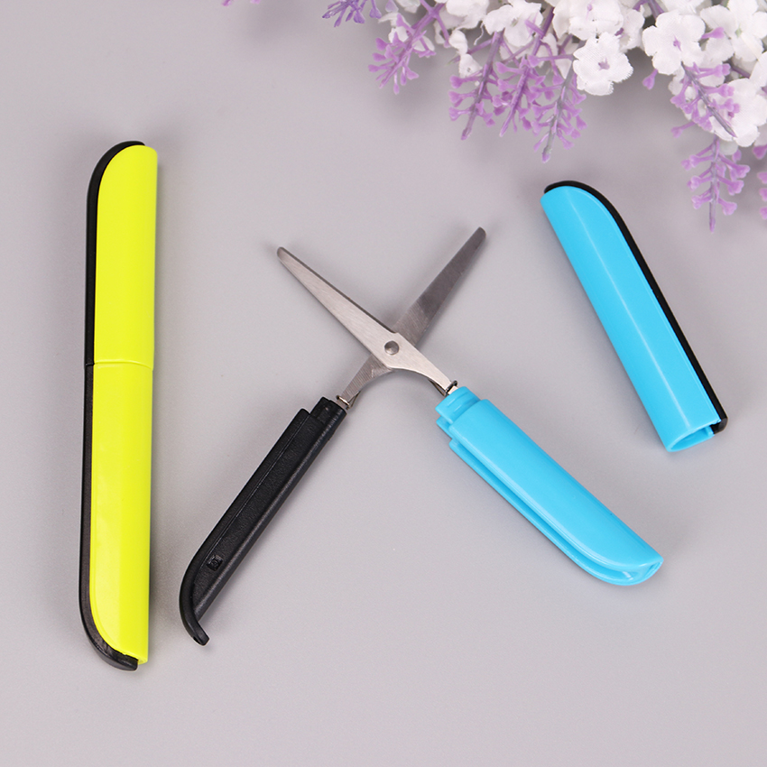 1PC Novelty Candy Color Portable Scissor DIY Scrapbooking Photo Paper Cutter Stationery Scissors Office School Supplies