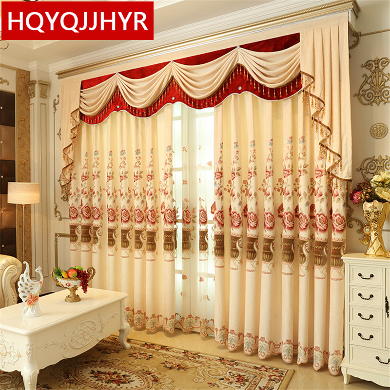 European Luxury Full Shade Embroidered Curtains For
