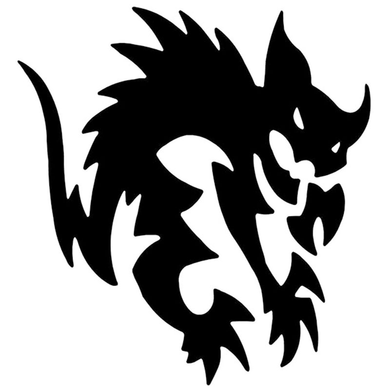 50cm x 50cm 2X Demon Cat Funny Car Sticker For Cars Door Side Truck Window Rear Windshield Vinyl Decal 8 Colors DA0233zhang hot sale custom decals for cars uv protection 3m car vinyl wrap rear windshield high beam ghost decal sticker with suction cup