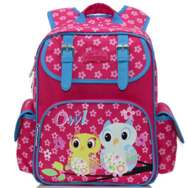 Ортопедические школьные сумки для мальчиков и девочек рюкзак Детская Школьные ранцы Новинка 2017 года бабочка кошка сова аниме рюкзак