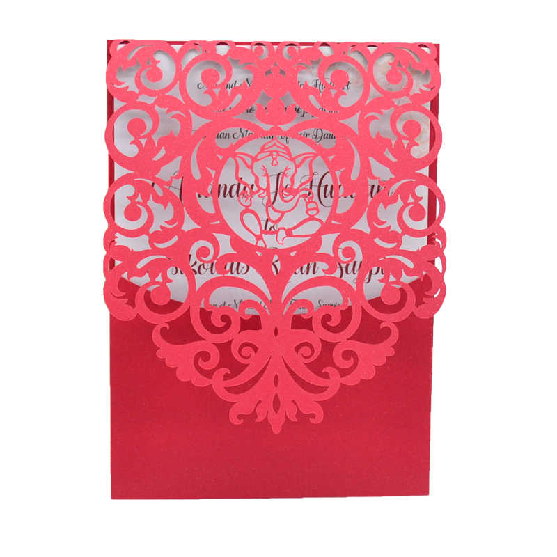 Ganesh Chaturthi Invitation Card Wedding Laser Cut Card