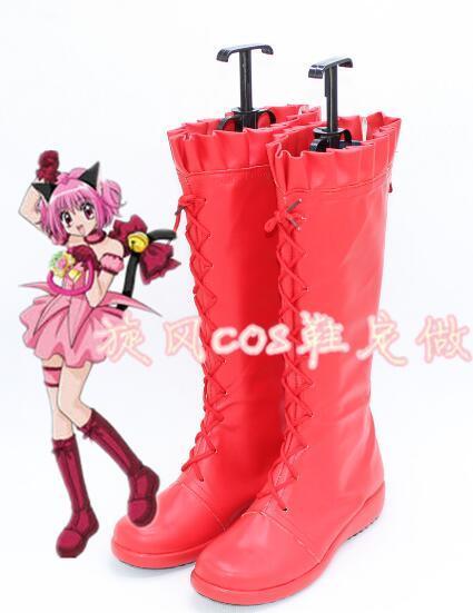 New Tokyo Mew Mew Ichigo Transfiguration Momomiya Cosplay Boots Shoes Cos Shoes
