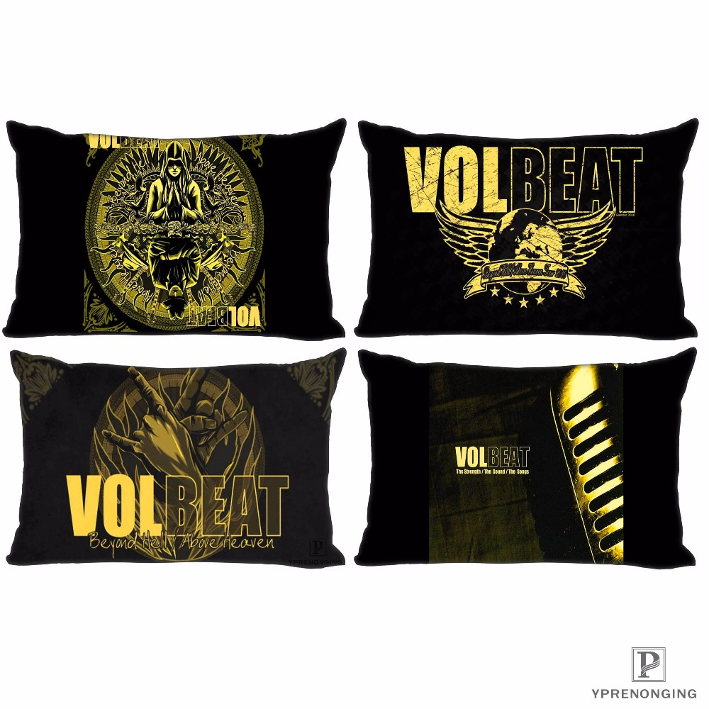 c5f5b017613 Best Custom Volbeat Guitar Gangsters Pillow Covers Cases Rectangle  Pillowcases zipper 35x45cm (One Side Print)180516-sina-10