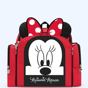 Authentic Disney Mickey Minnie Latest upgrade Mommy Diaper Bags Mother Large Capacity Travel Nappy Backpacks Baby Nursing Bags
