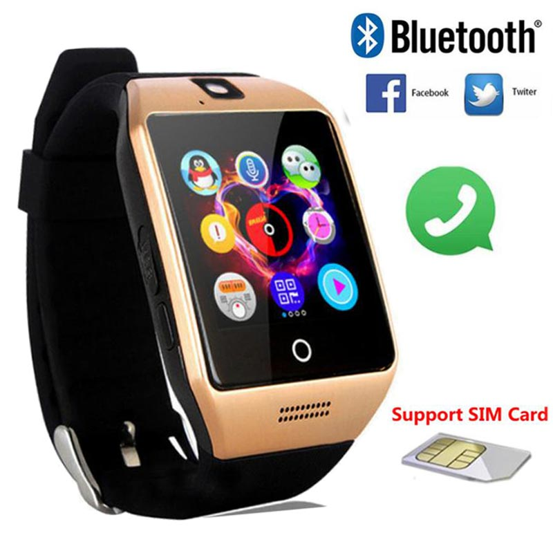 bluetooth smart watch men women q18 android smartwatch. Black Bedroom Furniture Sets. Home Design Ideas