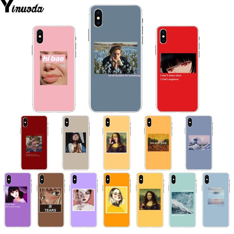 f64056d6083 Yinuoda gran arte estética van Gogh Mona Lisa David caja del teléfono TPU para  iPhone 8 7 6 S 6 Plus 5 5S SE XR X XS X MAX ~ Perfect Sale July 2019