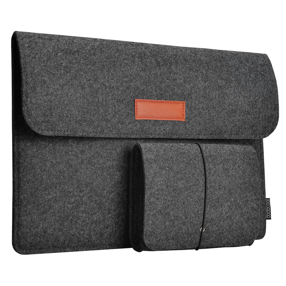 """Modest Dodocool 13.3-inch Felt Sleeve Cover Carrying Case Protective Bag 4 Compartments With Mouse Pouch For Apple 13"""" Macbook Air"""