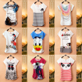 New top sale Mickey Women TShirts Short Sleeve Lady Print Duck T-Shirts Female Cartoon character Tops Tee girls T shirts