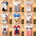 New top venda Mickey mulheres camisetas de manga curta senhora personagem de banda desenhada de pato impressão camisetas femininas Tops T das meninas T camisas