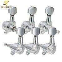 6 stks/set 3R 3L Chrome Elektrische Akoestische Gitaar String Stemsleutels Locking Tuners Keys Machine Heads Gitaar Onderdelen & Accessoires
