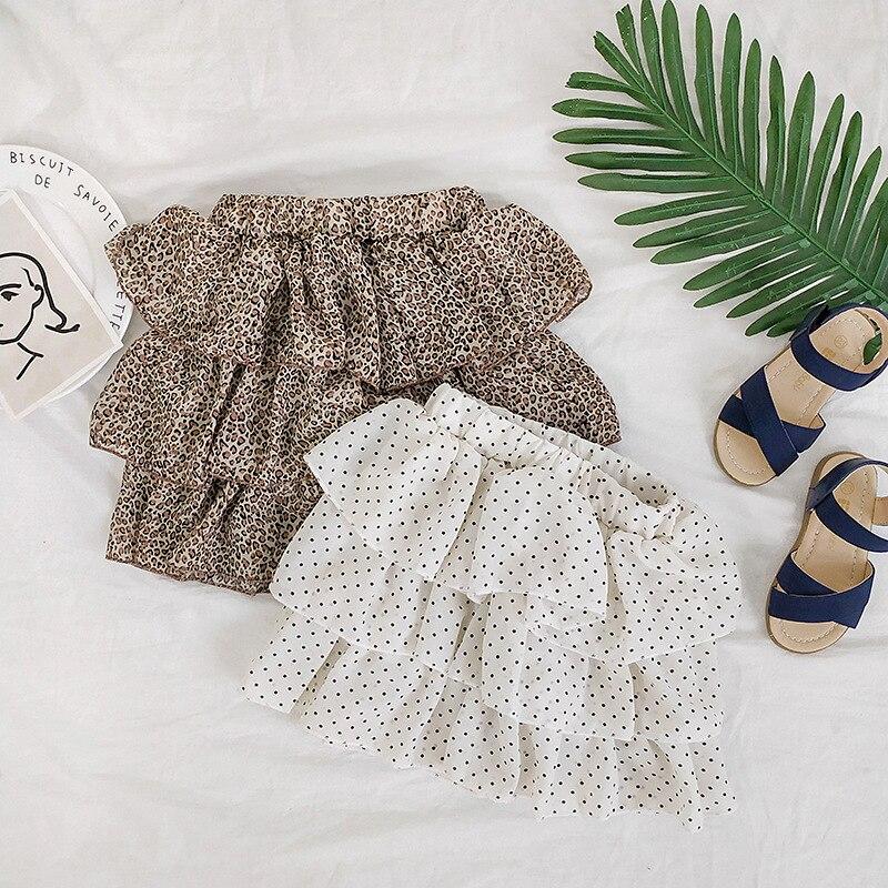 Шифоновая юбка пачка для маленьких девочек; Детская юбка американка с эластичной резинкой на талии; Фатиновая юбка принцессы; Мини юбки с леопардовым принтом и узором в горошек; Одежда для детей|Юбки|   | АлиЭкспресс