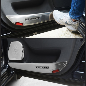 For Toyota Sienna 2011-2017 Accessories 304 Good Stainless Steel Silver Interior Door Horn Speaker Penals Trim Anti-Kick Cover