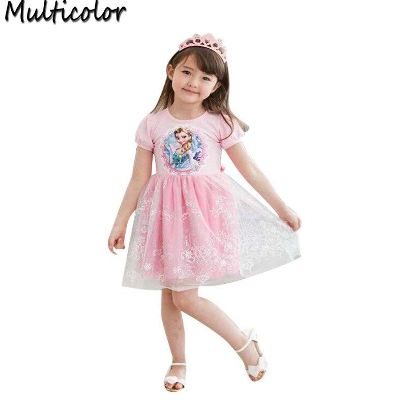Hot Kinder Sell Kleid KleidungAnna Elsa Mädchen Girls Fashion b6gYy7f