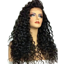 COLODO Long Kinky Curly Synthetic Lace Front Wigs With Baby Hair For Black Women Heat Resistant Glueless Natural Afro Hair Wig