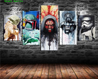 Star Wars Movie 5 Pieces Canvas Painting Print Living Room Home Decor Modern Wall Art Oil Painting Poster