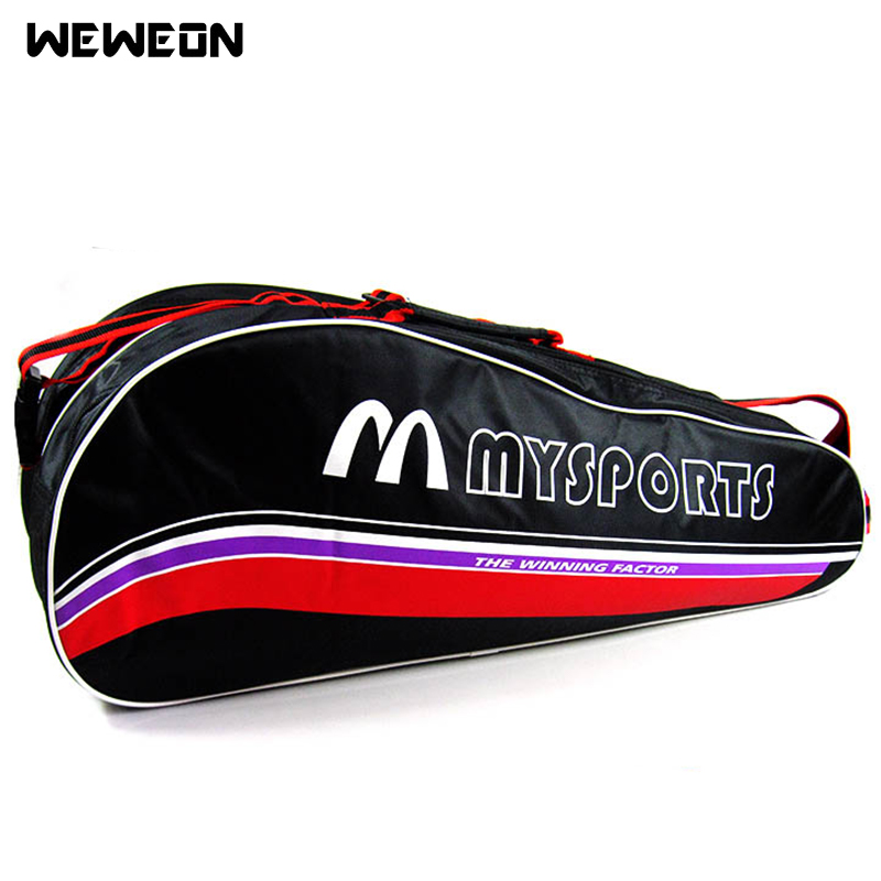Large Sports Tennis Bag Design for 6 Badminton Racquet Sport Backpack or Single Shoulder Tennis Bags Star Same Type(China)