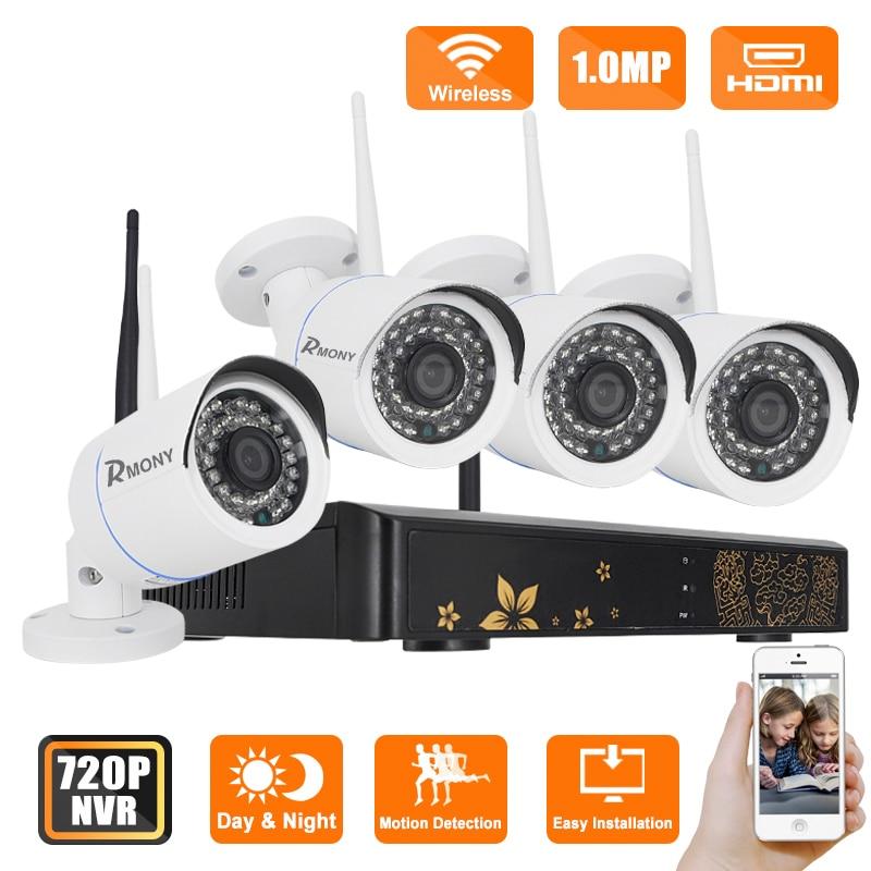 bilder für Rmony 720 P Freien Wifi Kameras Video NVR Überwachung CCTV KIT 4CH IR HD Home Security Wifi Drahtlose Ip-kamera System
