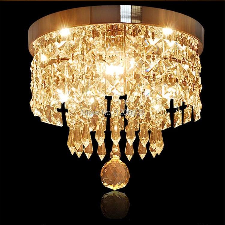 Wonderland LED K9 Crystal Glass Waterfall Ceiling Light Luxury Lustres Artistic Lamp for Aisle/Hallway Modern Living Room D-10