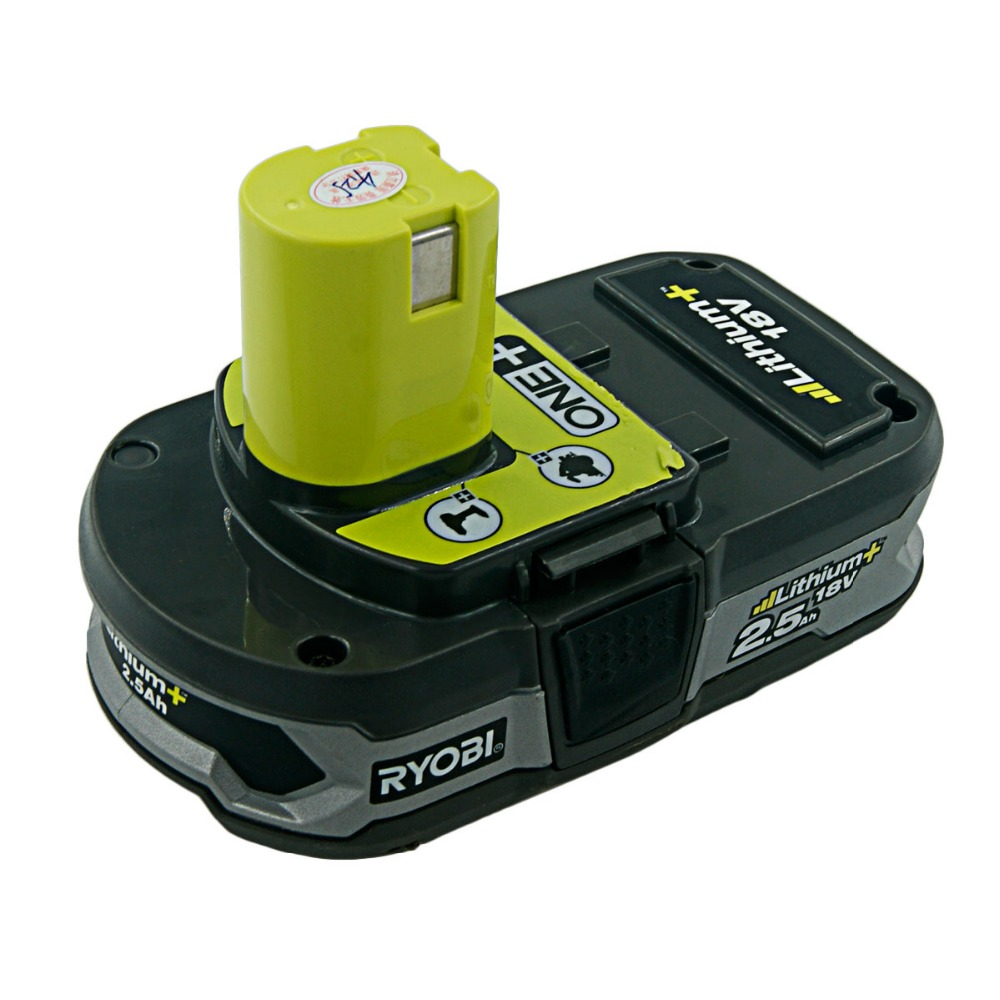 Used Ryobi 18 Volt 2500mAh RB18L25 One Plus Lithium Ion Rechargeable Battery for P104 P108 BPL