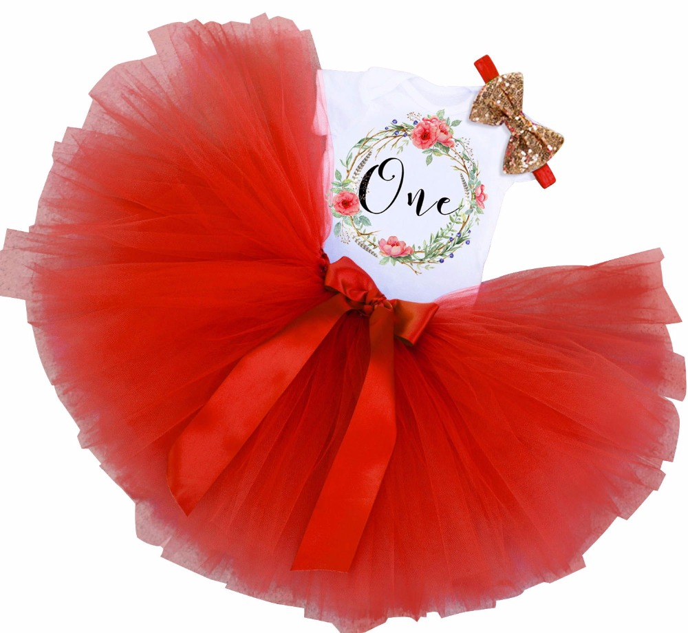 Brand Newborn Baby Girls 1st Birthday Dress Outfits Girl Clothes Tutu Infant Clothing Suit Shower Gift For 1 Year Baby Wear