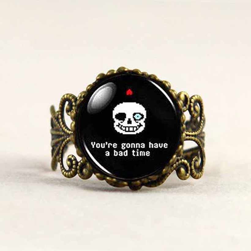 Undertale Sans you're gonna have a Bad Time Game Gaming Handmade Fashion  Necklace brass steampunk Jewelry women new toy men fans
