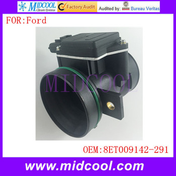 New Mass Air Flow Sensor use OE No. 8ET009142-291 , 1051277 , 1054419 , 1054420 , 98AB12B579B1B , 98AB12B579B2B for Ford