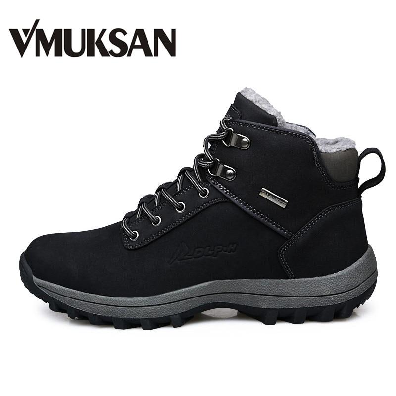 9c9ba77bd050 VMUKSAN Brand Men Boots Big Size 39-46 Men Winter Boots Warm Plush Snow Boots  Mens Fashion Sneakers Winter Shoes Man