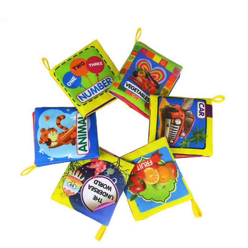 1 pc カラフルなソフト英語認知ベビーおもちゃ早期知育玩具漫画の動物番号布ハンドブックのためのおかしいゲーム