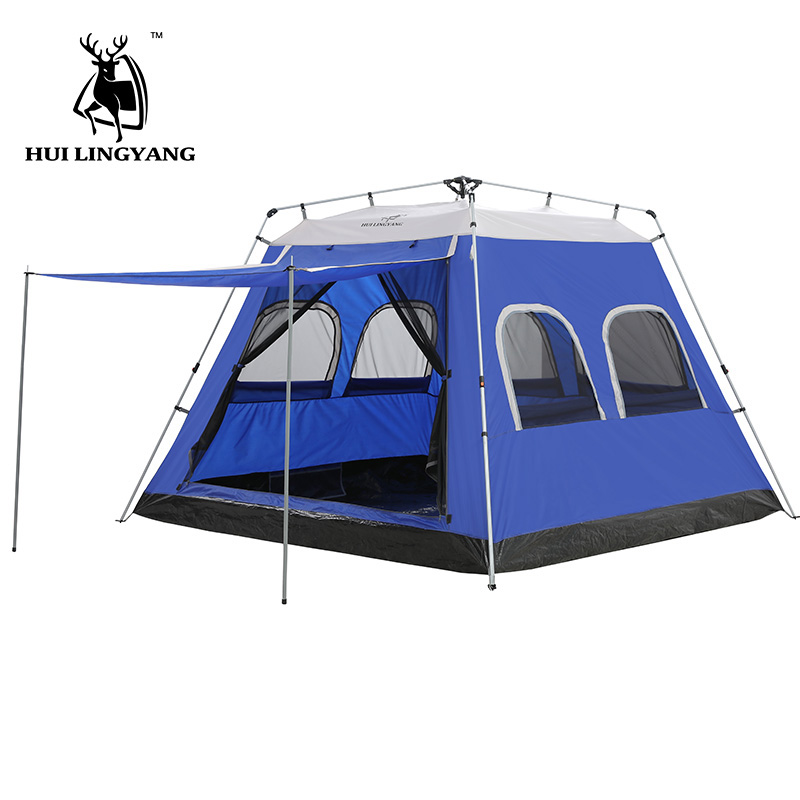 Camping Tent 5-6-7-8 Person Car Hydraulic Automatic Outdoor Large Travelling Picnic 4-Season Waterproof Family Tents