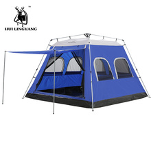 Camping Tent 5-6-7-8 Person Car Tent Hydraulic Automatic Outdoor Large Travelling Picnic Tent 4-Season Waterproof Family Tents