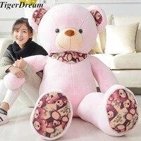 Printed Teddy Bear Doll Large Plush Toy Hug Bear Appease Stuffed Doll Female Birthday Gift Valentine's Day Gift
