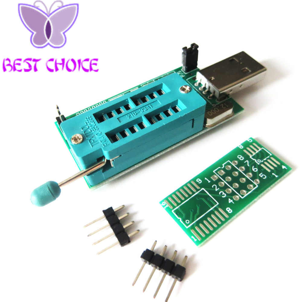 Free shipping 1pcs Bios Board MX25L6405 W25Q64 USB Programmer LCD Burner  CH341A Progammer for 24 25 Series+One Adapter Board