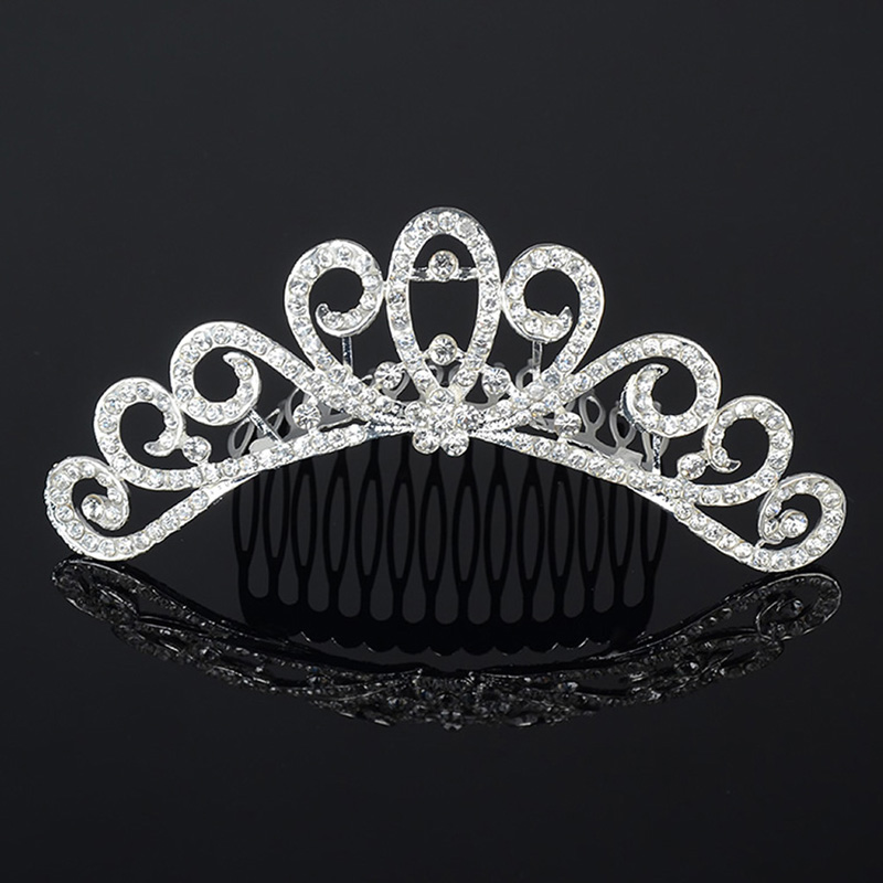 Wedding Bridal Crystal Rhinestone Headband Crown Comb Hair Tiara Prom Pageant