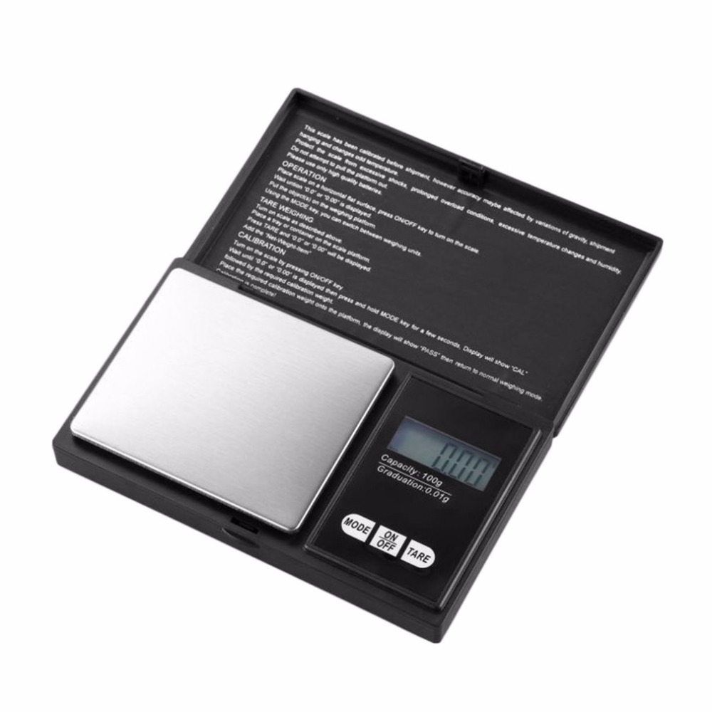 Digital Scale Portable Mini Jewelry Scale 0.01g/0.1g Electronic Platform Scale For Tea Leaf Kitchen Food Jewelry